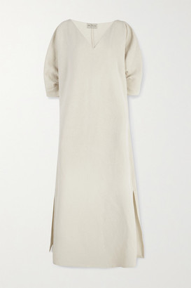 Cortana - Cenit Linen And Cotton-blend Maxi Dress - Beige