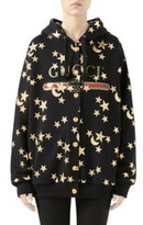 Gucci Star & Moon Print Reversible Cotton Jersey Sweatshirt