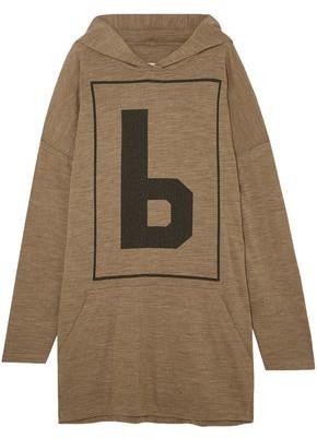 MM6 MAISON MARGIELA Oversized Printed Wool-blend Jersey Hoodie