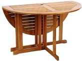 The Well Appointed House Round Folding Dining Table in a Natural Oiled Finish