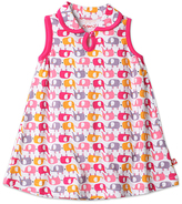 Zutano Pink Ella's Elephant Keyhole-Collar Dress - Infant