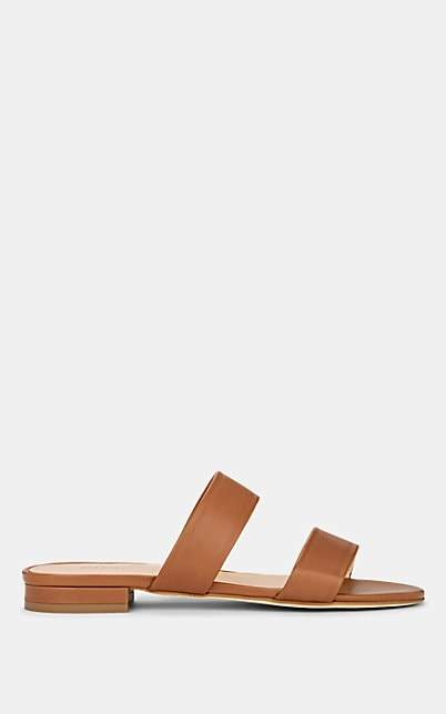 Barneys New York Women's Leather Double-Band Sandals - Brown