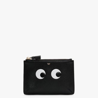 Anya Hindmarch Small Loose Pocket Black Leather Pouch