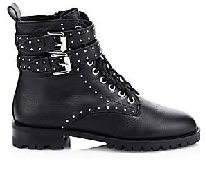 Rebecca Minkoff Women's Jaiden Studded Leather Combat Boots