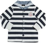 Diesel Sailor Collar Striped Cotton Sweatshirt