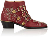 Chloé Women's Suzanna Ankle Boots-RED, BURGUNDY