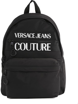Versace Jeans Couture Black Versace Jeans Nylon Backpack