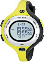 Soleus Women's SR009351 Chicked Grey Digital Dial with Lime Green and Black Polyurethane Strap Watch