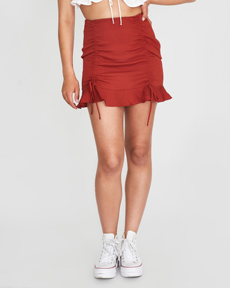 Don't Ask Amanda Debbie Double Rouched Skirt