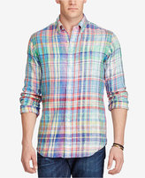Polo Ralph Lauren Men's Big & Tall Plaid Linen Sport Shirt