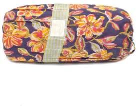 Artisans & Adventurers - Queen Large Double Sized Sunset Floral Indian Kantha Quilt - Blue/Pink/Orange