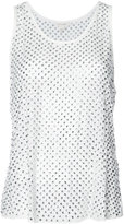 Marc Jacobs crystal pave sleeveless blouse - women - Silk - S
