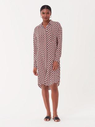 Diane von Furstenberg Aliana Silk Crepe de Chine Shirt Dress