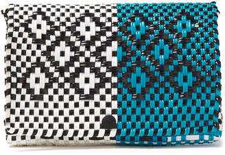 Truss Two-tone Woven Clutch