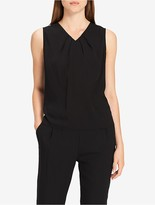Calvin Klein Pleat Neck Sleeveless Top