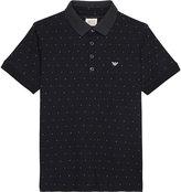 Armani Junior Logo Cotton Polo Shirt 4-16 Years