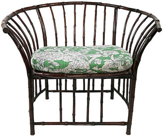 One Kings Lane Vintage Rattan Accent Chair - Tobe Reed