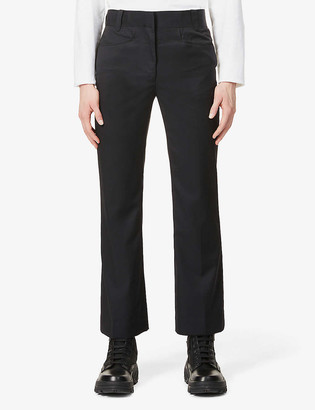 Pieces Uniques Taylor relaxed-fit flared wool trousers