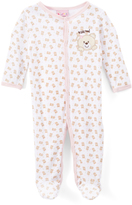 Sweet & Soft Pink Bear 'Kiss Me' Footie - Infant