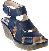 Fly London As Is Leather Wedge Sandals - Yair