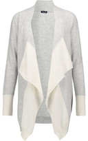 Splendid Two-Tone Draped Cashmere Cardigan