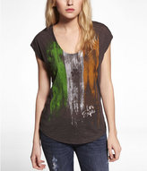 Express Dolman Graphic Tee - Irish Flag