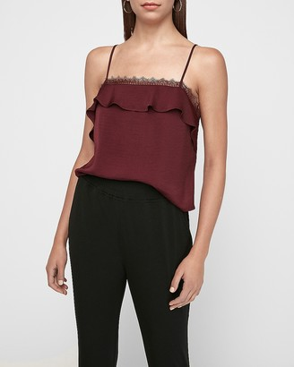 Express Lace Square Neck Cropped Cami