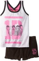 AME Sleepwear AE Sleepwear One Direction 1D Boy Band Shortie Pajaas for girls for girls (ediu)