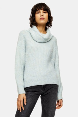 Topshop Brushed Turtle Neck Sweater