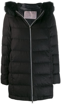 Herno Hooded Zip-Up Coat