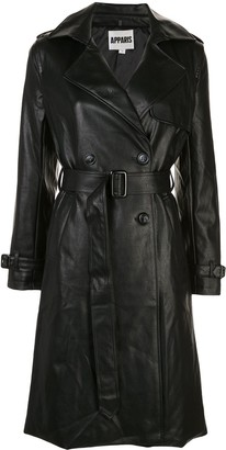 Apparis Leather Look Trench Coat