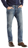 Levi's 501 Slim Fit Fading and Whiskering Jeans