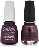 China Glaze Gelaze Tips and Toes Nail Polish, Evening Seduction, 2 Count