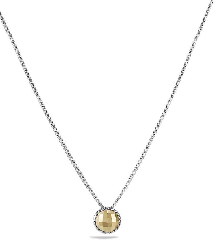 David Yurman Ch'telaine Necklace with Gold Dome and 18K Gold