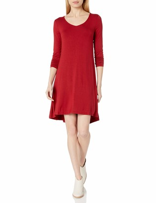 Daily Ritual Amazon Brand Women's Jersey Long-Sleeve V-Neck Dress