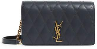 Saint Laurent Diamond-Quilted Leather Angie Bag