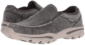 Skechers Relaxed Fit: Creston - Moseco (Charcoal) Men's Slip on Shoes