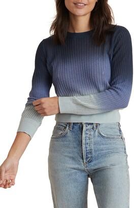 Marine Layer Jess Ombre Cotton & Cashmere Sweater