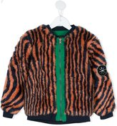 Bobo Choses 'Hypnotized' faux fur bomber jacket