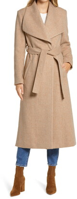 Rachel Parcell Herringbone Long Wrap Coat