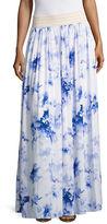T Tahari Farah Crochet Floral Maxi Skirt