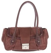 Alberta Ferretti Bicolor Leather Shoulder Bag