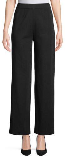 Misook Wide-Leg Knit Pull-On Pants, Plus Size