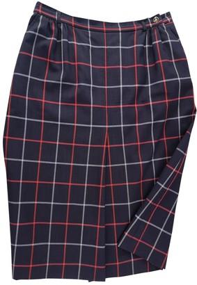 Burberry Navy Wool Skirt for Women Vintage