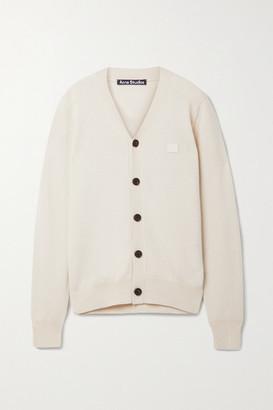 Acne Studios + Net Sustain Appliqued Wool Cardigan - Cream
