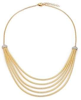 Marco Bicego Cairo Diamond& 18K Yellow Gold Five-Row Bib Necklace