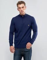 Lyle & Scott 1/4 Zip Merino Sweater Navy
