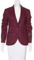 Balmain Embroidered Herringbone Jacket