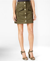 Rachel Roy Button-Front Utility Skirt
