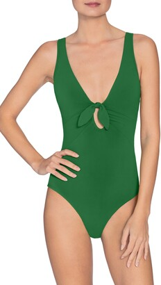 Robin Piccone Ava Plunge Underwire One-Piece Swimsuit